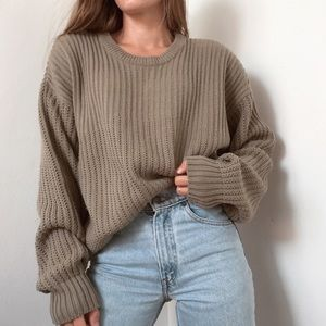 Vintage chunky knit crewneck sweater